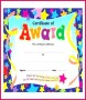 4 Children Award Certificate Blank Template