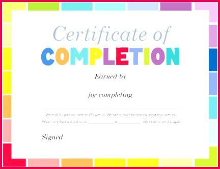 VBS Certificate of pletion large