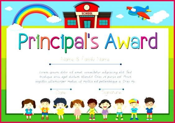 certificate template principal s award 1308 4519