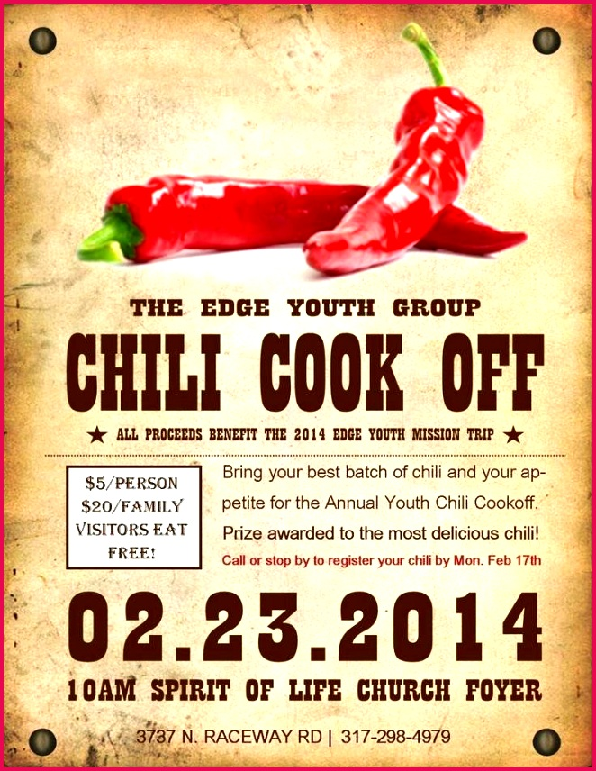 Chili Cook f Template Free