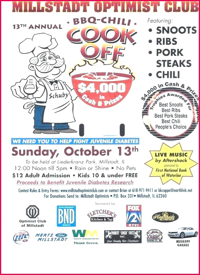free sample chili cook off flyer template memes entry form vector