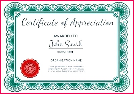 volunteer certificate of appreciation template beautiful recognition