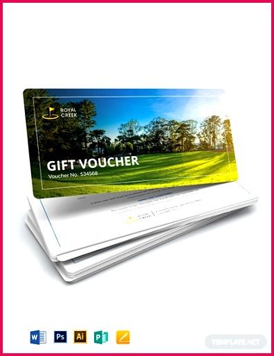Golf Gift Voucher Template