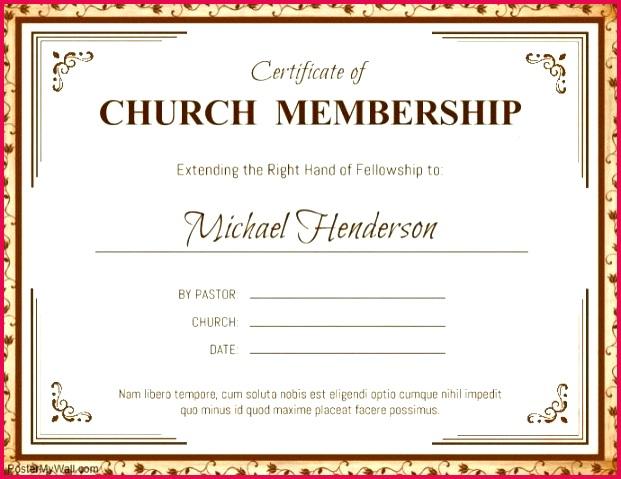 brown church membership certificate template a customize excel