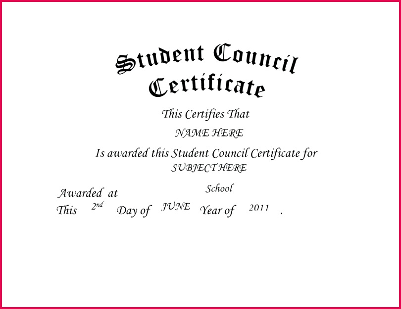 student council certificate template free templates clip art wording printable yellow leadership a