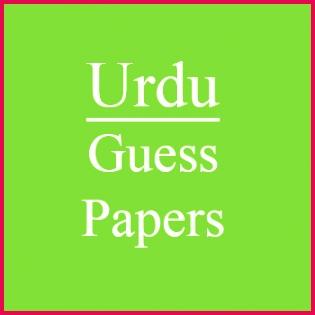 Urdu Guess Paper