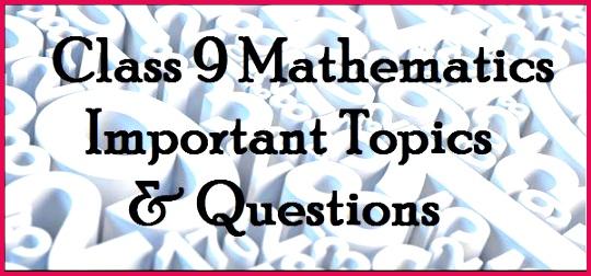 mathsimportanttopics