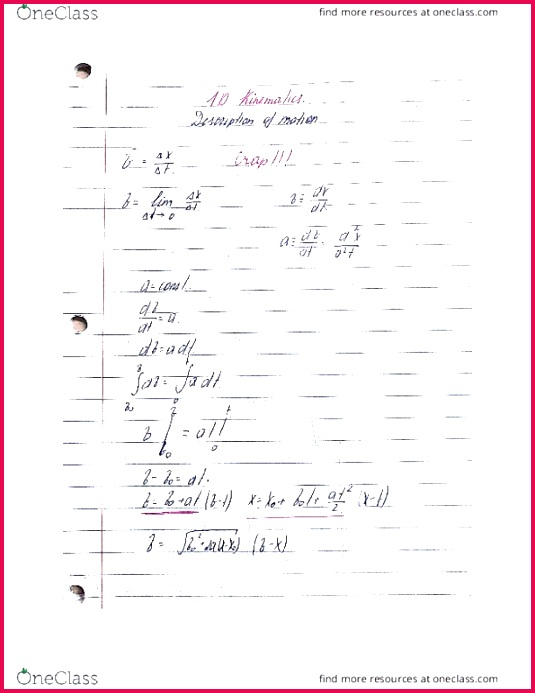 class notes ca stonybrook phy 131 lecture1