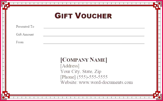 t voucher template with sample text vector illustration examples card