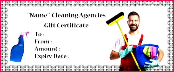 House Cleaning Gift Certificate Template 10 Free Personalized Certificate Templates