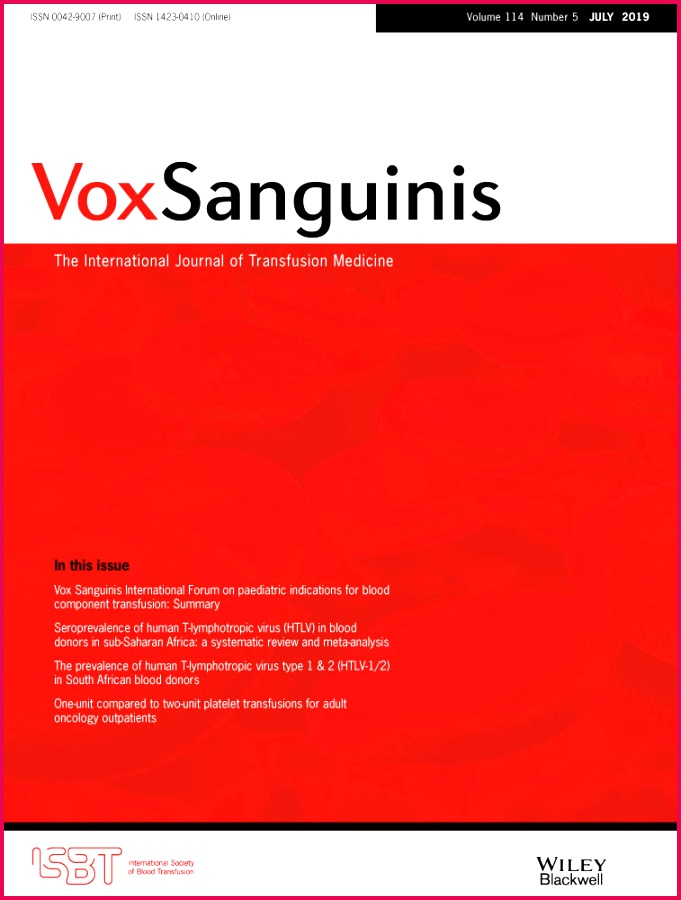 Abstract of the 35th international congress of the ISBT 2018 Vox Sanguinis Wiley line Library