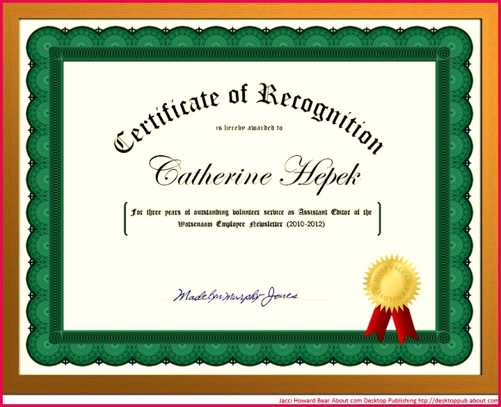 You Can Create a Certificate of Recognition in Word for School or Work