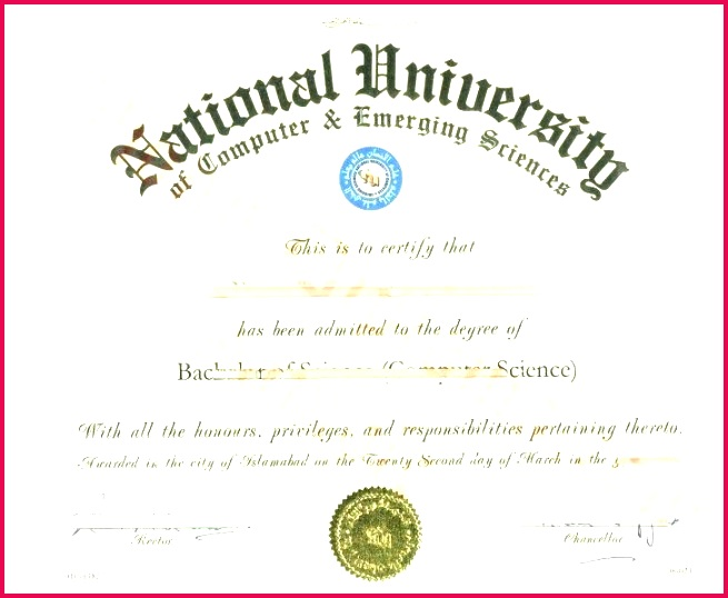 national university of puter emerging sciences free college diploma template doctorate certificates templates doctor