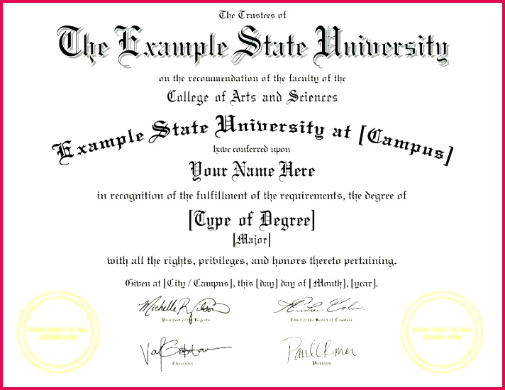 fake diploma template d college degree certificate templates