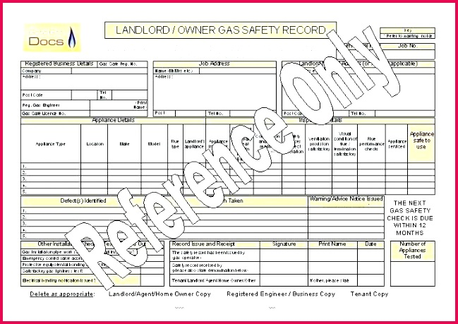 safety certificate template electrical landlord gas record word templates for aviation design fire