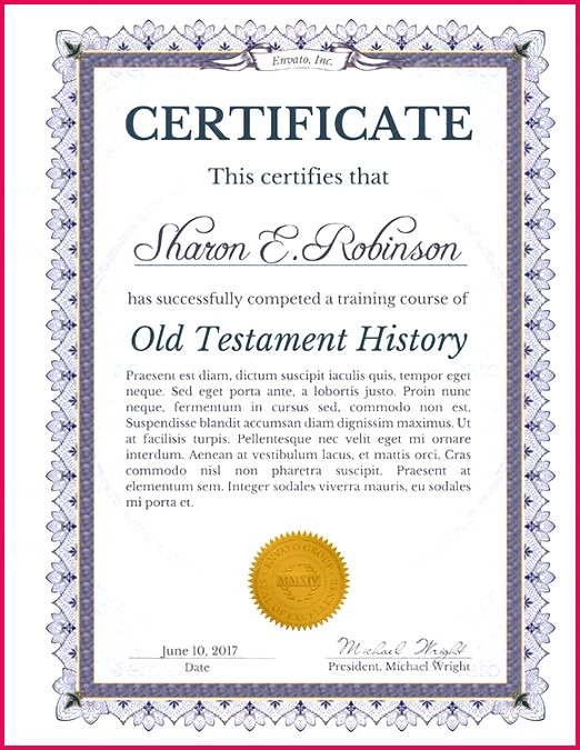 Certificate of pletion Template Download1