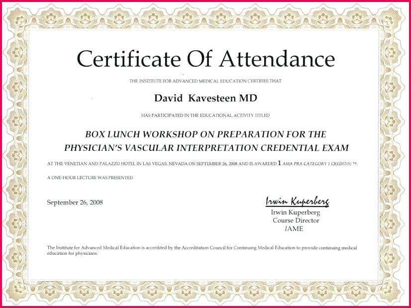 certificate of attendance template microsoft word sample certificate of attendance doc sample certificate of attendance design template certificate of 918x688