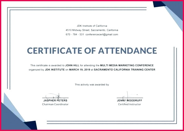 sample certificate templates doc free premium conference template all