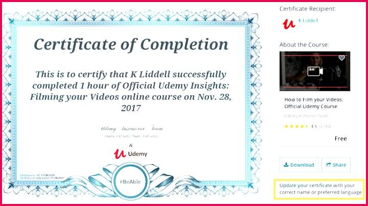 update certificate
