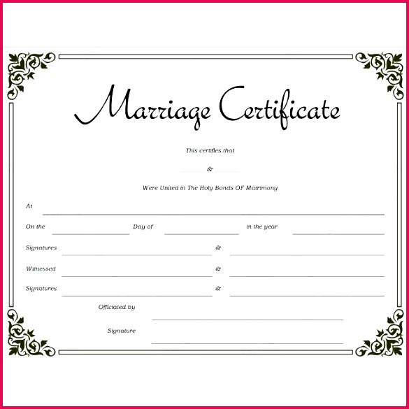 marriage license template free for certificate translation english to italian human fertilization and em