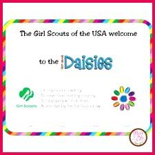 daisy investiture certificate petals 250x