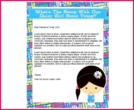 girl scout letterhead daisy printable instant templates cookie flyer template