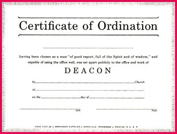 Product Asp Deacon Ordination Certificate For Cna Certification