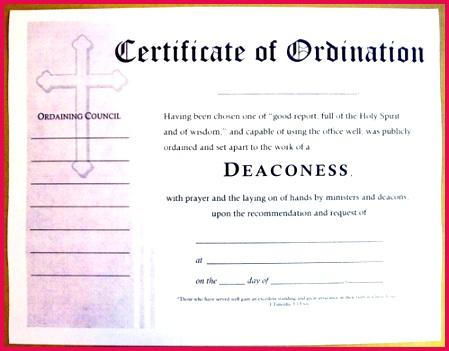 Certificat Deacon Ordination Certificate New York Birth Certificate