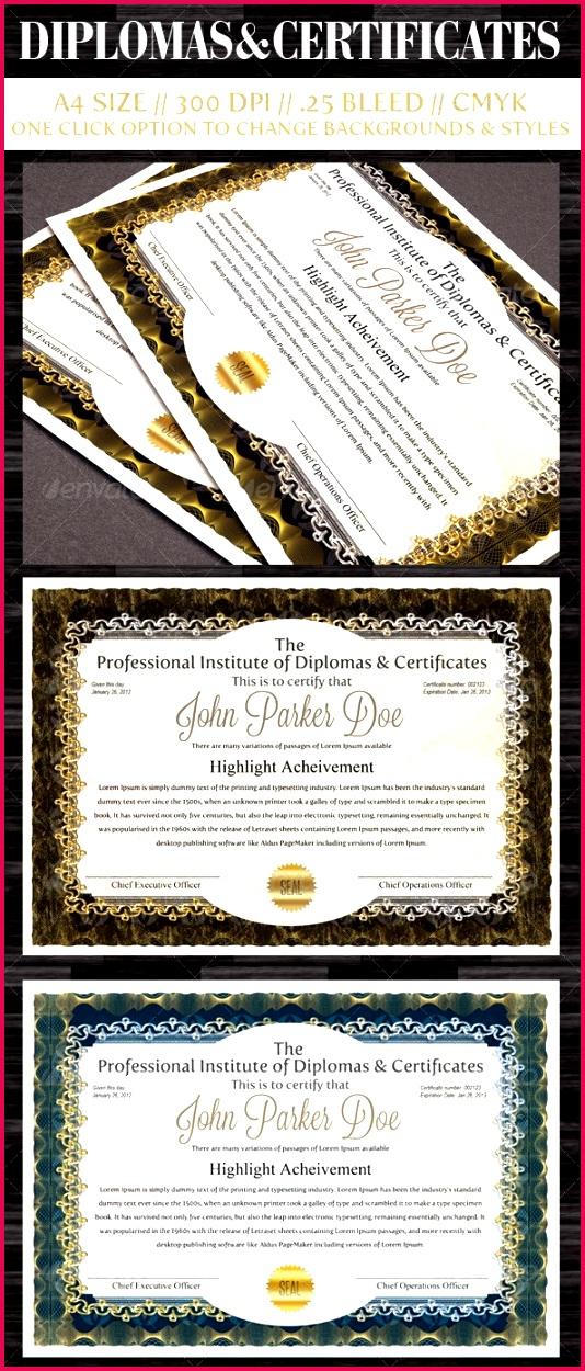 Diplomas Certificates Templates e