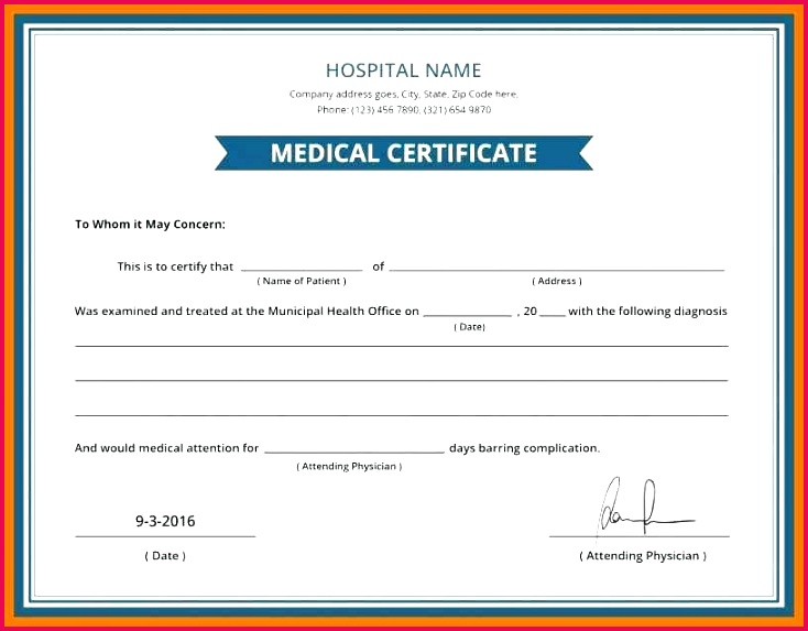 6 7 sample medical certificate from doctor sick template dr fake doctors australia