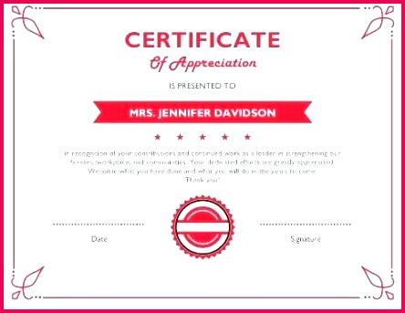 blank certificate of appreciation for donation template free