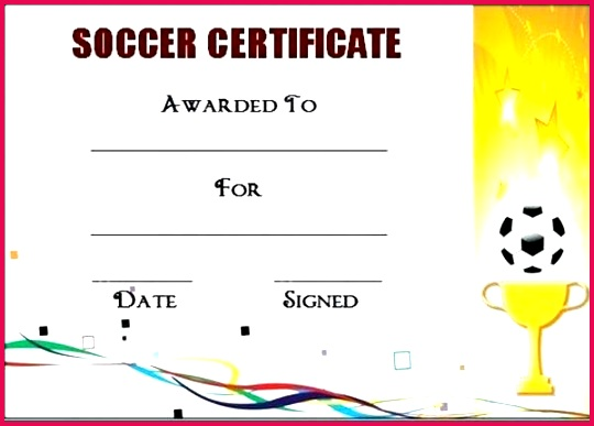 soccer award certificate templates template powerpoint