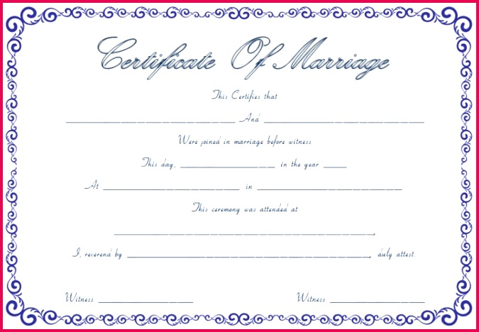 marriage certificate template free editable marriage certificates of free editable marriage certificates