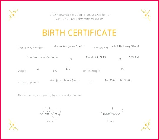 birth certificate template doc official free editable docs marriage