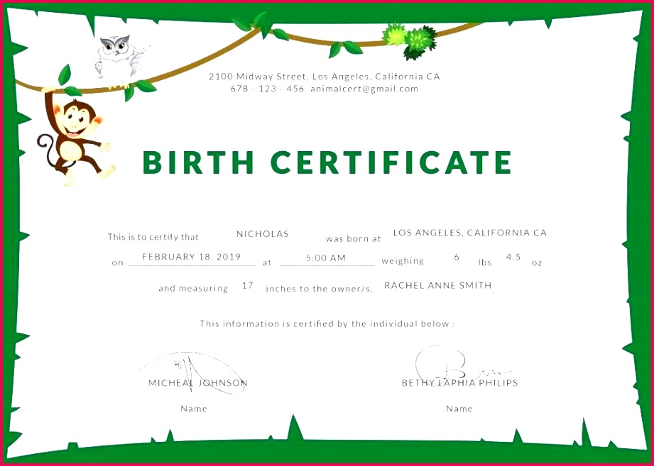 cute birth certificate template new dog puppy certificates inspiration funny joke templates free printable certi