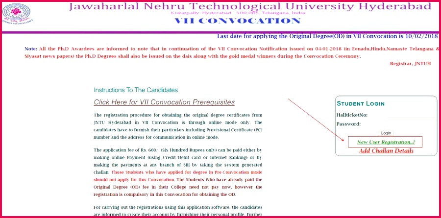 B Degree Certificate Sample or Jntuh Od Apply Line 2018 Procedure original Degree Application