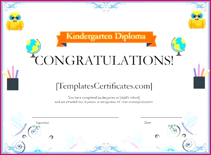 kindergarten diploma template certificate award templates elementary e es school free special trait certifi