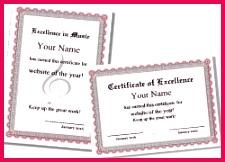 music certificate 1