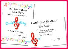 music certificate 2