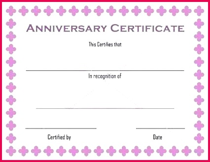 work certificate template project format pletion word anniversary templates