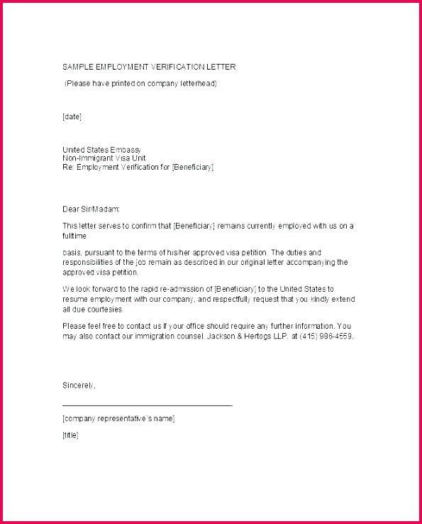 employment verification letter template free proof of work doc