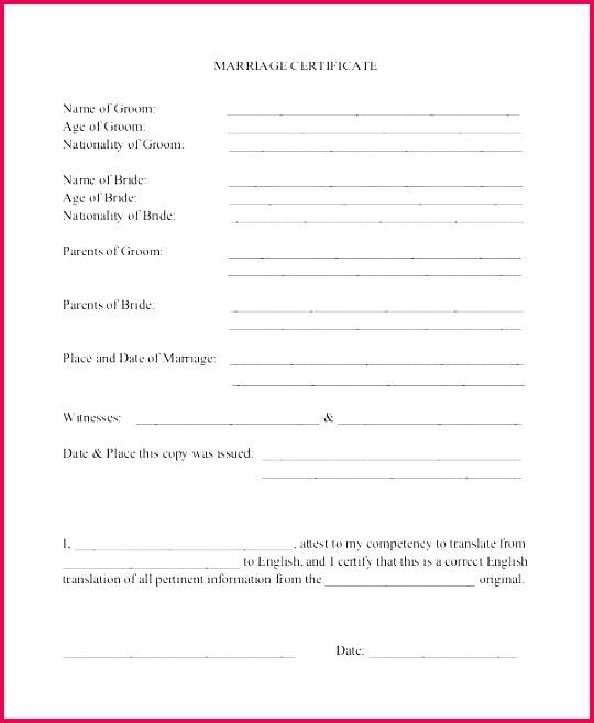marriage certificate translation template birth format 2 blank bangladesh form sample