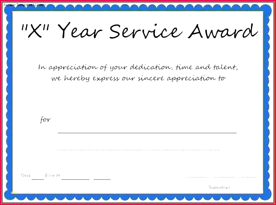 4 Excellence Award Certificate Template Word 45076 ...