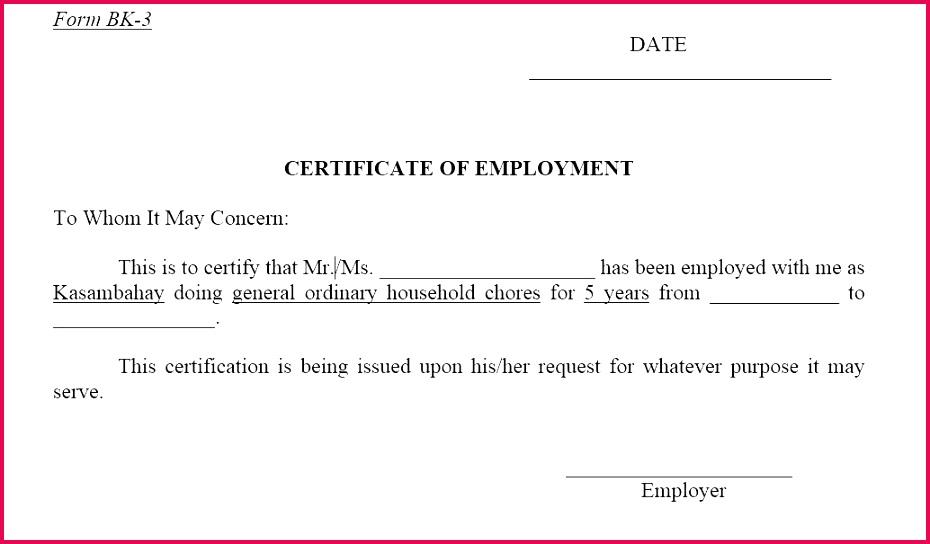 certificate template doc employment certificate template employment certificate template doc sample of employment certificate templates experience