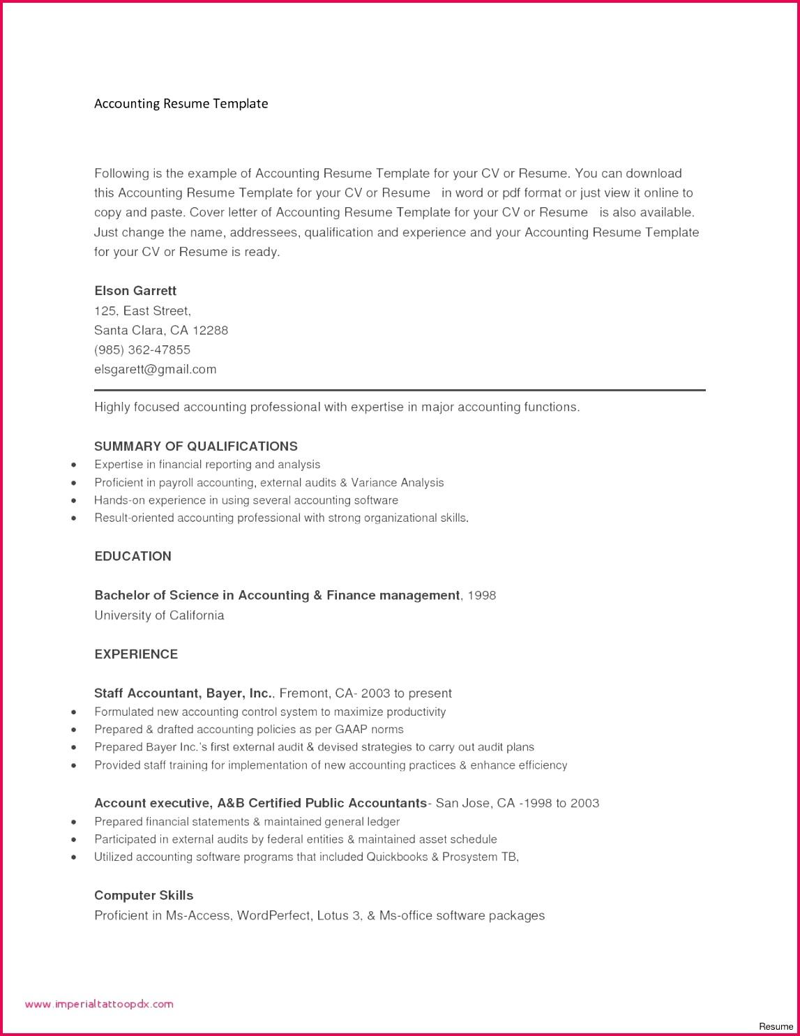 Accou Accountant Experience Certificate Format Doc Copy Junior