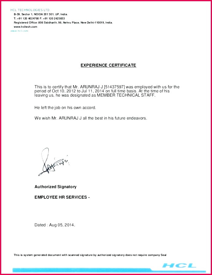 experience certificate sample and hr letter template for certificate work experience sample v m hr letter templates free hr letter template