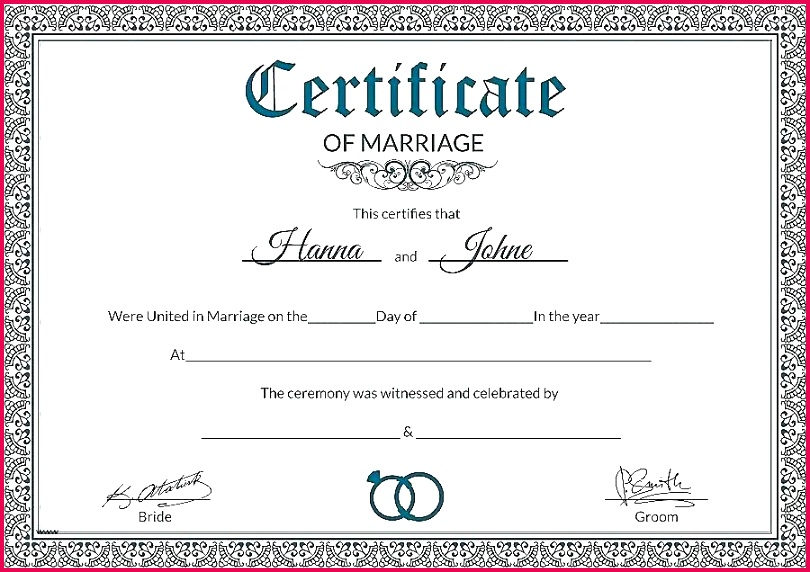 certificate template printable fake marriage best of keepsake gallery templates example fresh strand direction certificates t printab