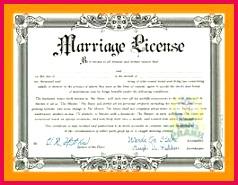 fake marriage license template 0b f6644b9bab4e711eecc6de30