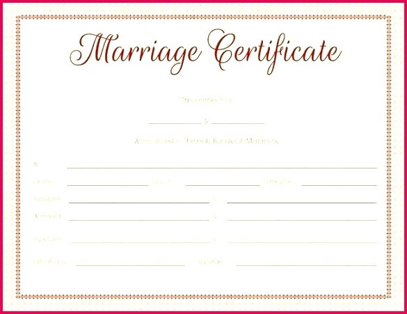 printable fake marriage certificate template ppt
