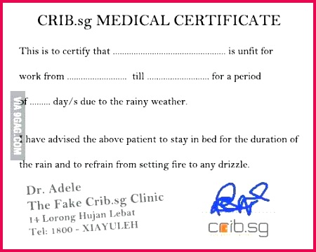 our dream medical certificate how to fake a template india